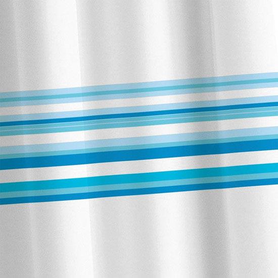 Croydex Blue Bars Textile Shower Curtain 1800 x 1800mm - AF285724 at ...