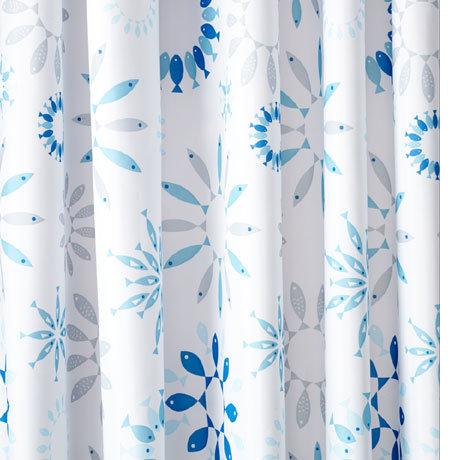 Croydex Kaleidoscope Fish Textile Shower Curtain W1800 x H1800mm - AF288824