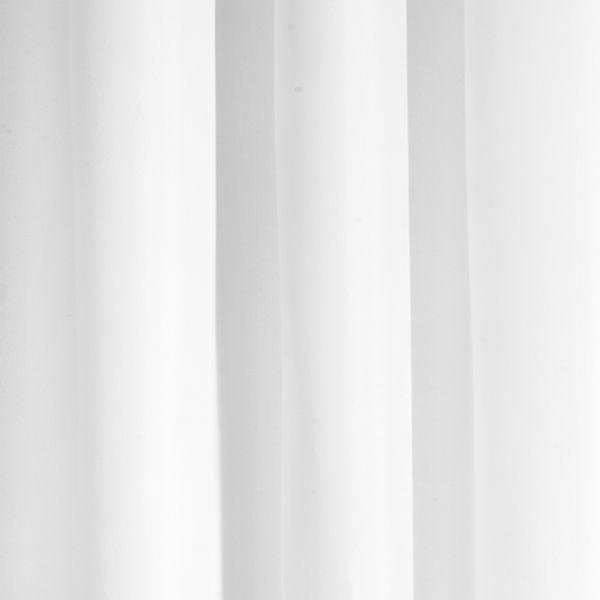 Croydex White Polyester Hook N Hang Shower Curtain W1800 x H1800mm - AF289022