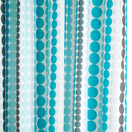 Croydex Dotted Stripe Textile Shower Curtain W1800 x H1800mm - AF289324