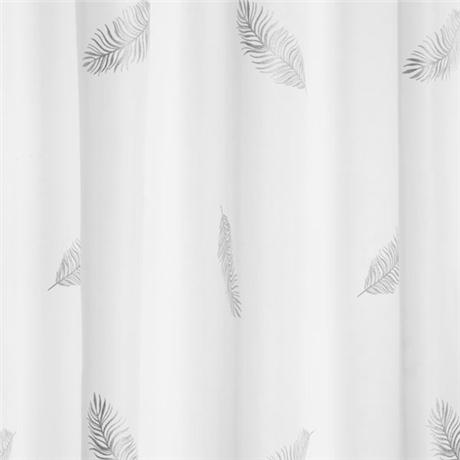 Croydex Silver Feather Textile Shower Curtain 1800 X 1800mm