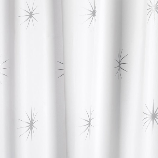 Croydex Stellar Textile Shower Curtain W1800 x H1800mm - AF584740 profile large image view 1