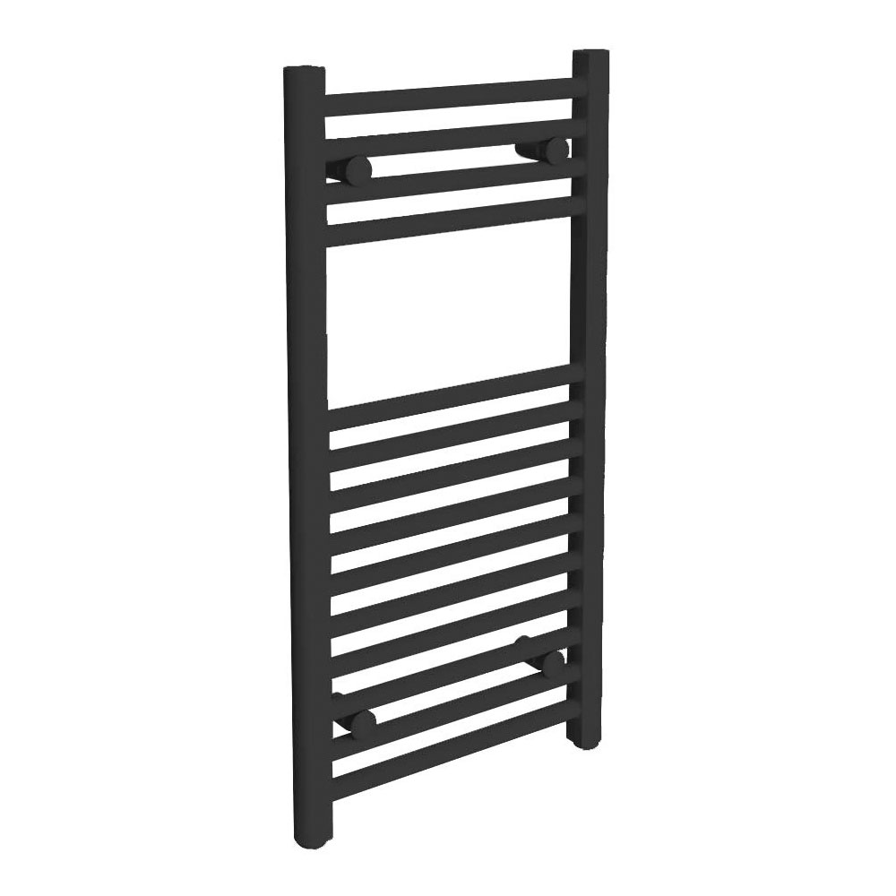 Diamond Heated Towel Rail - W400 x H800mm - Anthracite