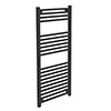 Diamond Heated Towel Rail - W500 x H1200mm - Anthracite profile small image view 1