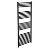Diamond Heated Towel Rail - W600 x H1600mm - Anthracite profile small image view 1