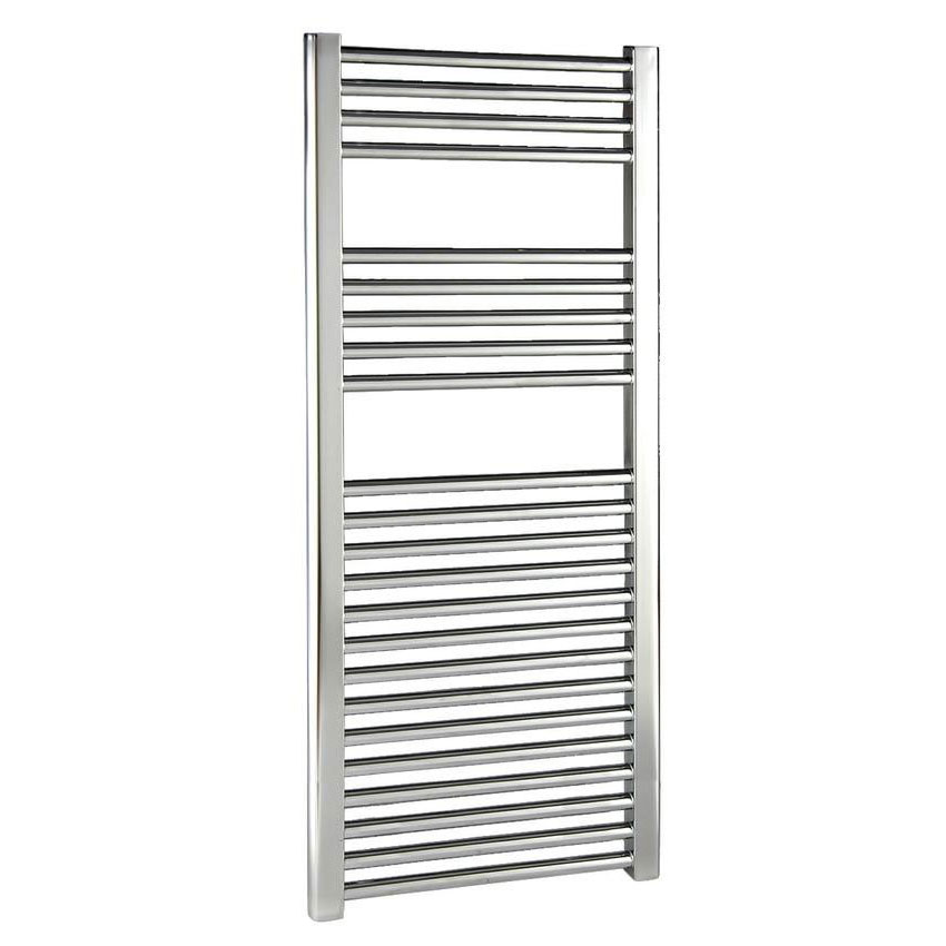 Reina Diva Flat Towel Rail - Chrome Large Image