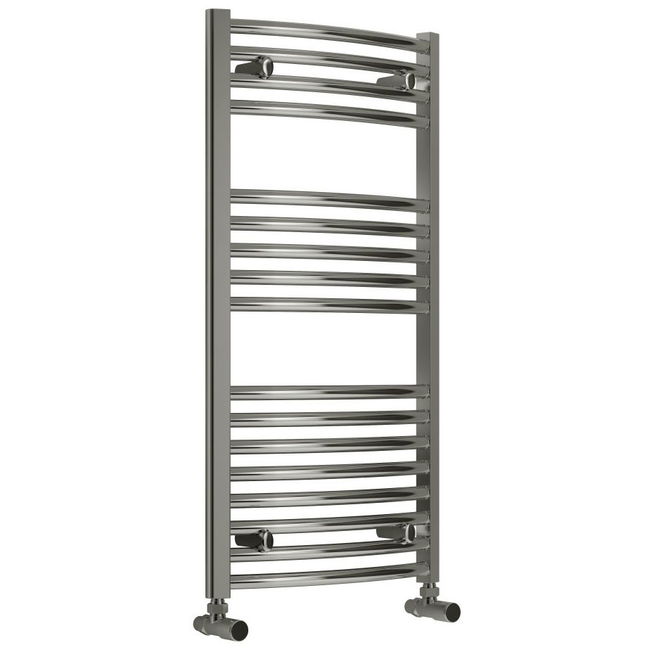 Reina Diva Curved Towel Rail - Chrome profile large image view 2
