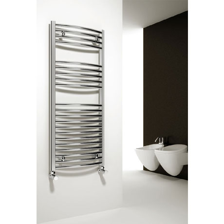 Reina Diva Curved Towel Rail - Chrome