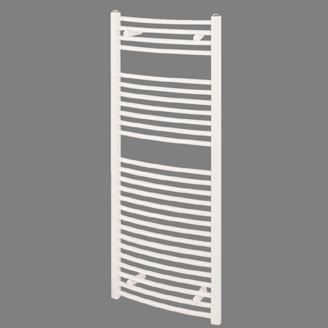 Reina Diva Curved Towel Rail - White