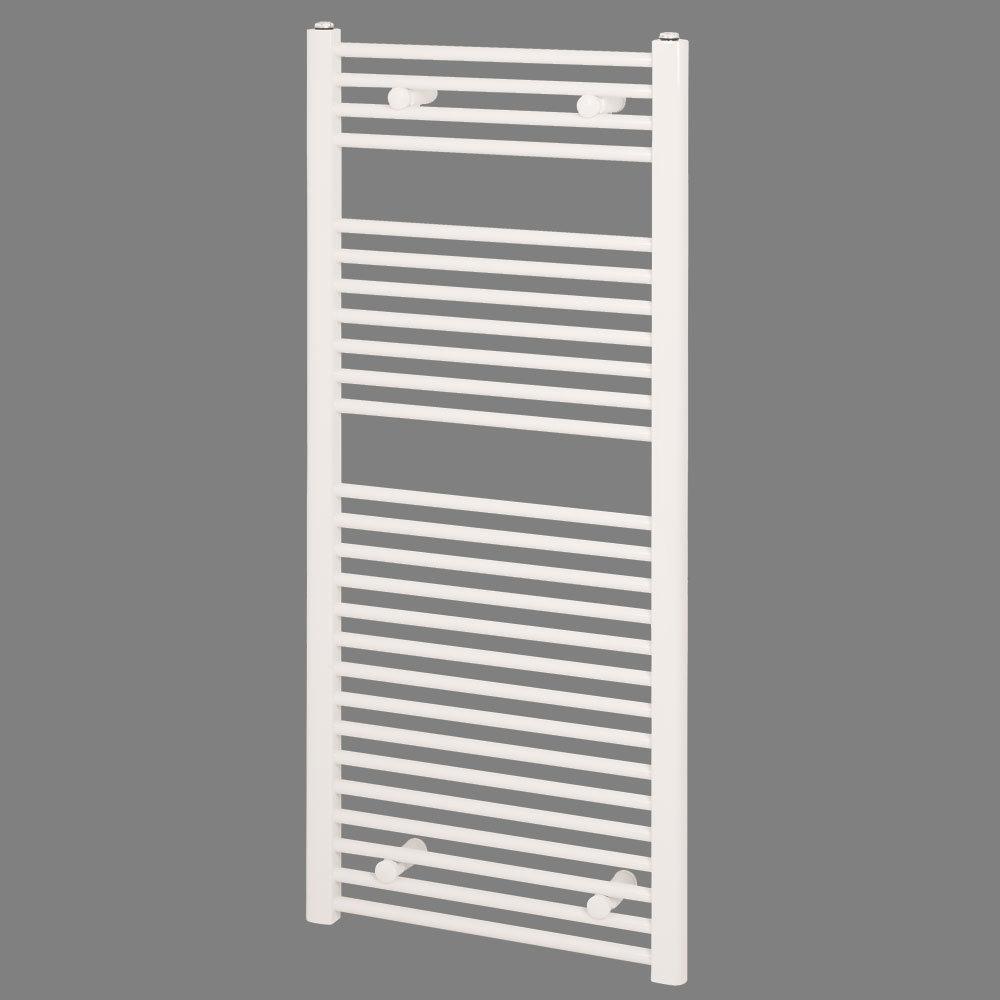 Reina Diva Flat Towel Rail - White profile large image view 1