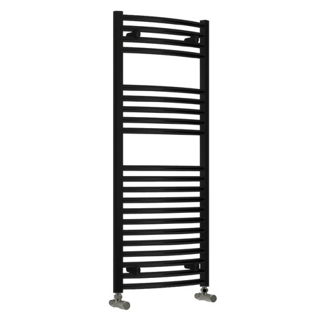 Reina Diva Flat Towel Rail - Black