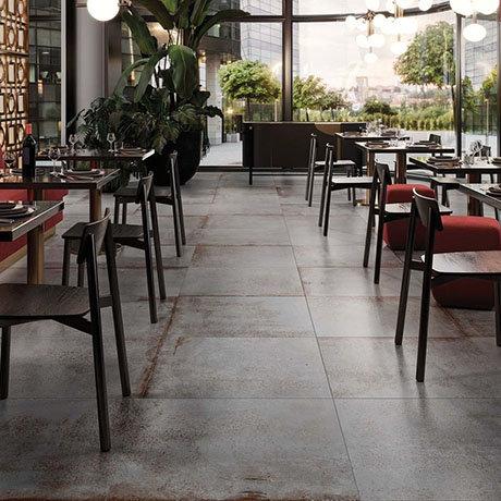 RAK Evoque Metal Grey Wall and Floor Tiles 600 x 600mm