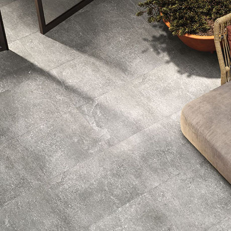 RAK Fashion Stone Light Grey Wall and Floor Tiles 600 x 600mm