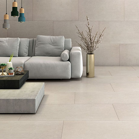 RAK City Stone Beige Large Format Wall and Floor Tiles 600 x 1200mm