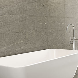 Agrino Dark Grey Stone Effect Wall and Floor Tiles - 300 x 600mm