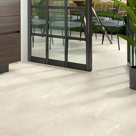 Agrino Cream Stone Effect Wall and Floor Tiles - 600 x 600mm