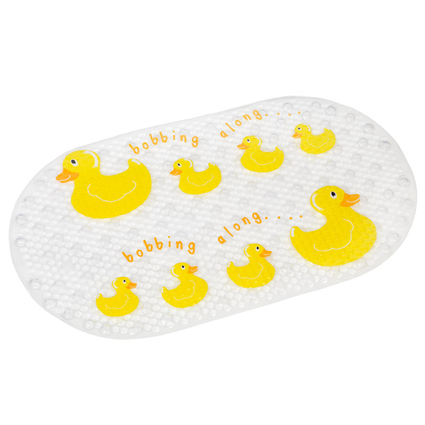 Croydex Phthalate Free PVC Bobbing Along Bath Mat - 695 x 390mm - AH220515 Large Image