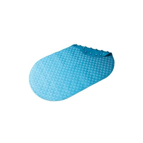 Croydex - Basket Weave Bath Mat - 690 x 390mm - Blue - AH310424