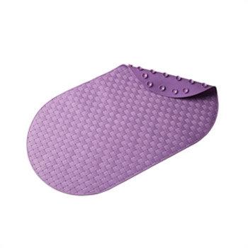 Croydex - Basket Weave Bath Mat - 690 x 390mm - Purple - AH310461 Large Image