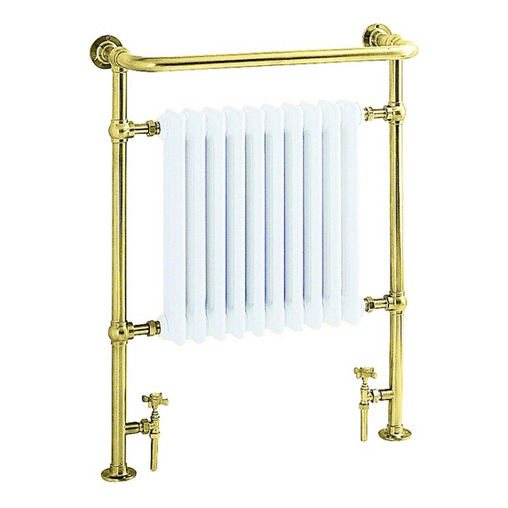 Heritage - Clifton Heated Towel Rail - Antique Gold - AHA73 Large Image