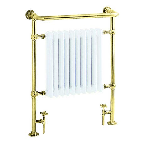 Heritage - Clifton Heated Towel Rail - Antique Gold - AHA73