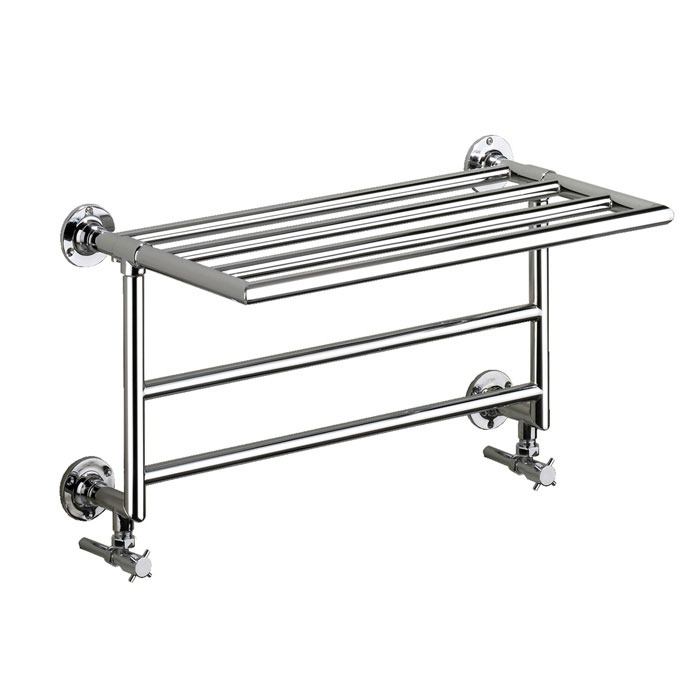 Heritage - Quirinius Wall Mounted Heated Towel Rail - AHC103 profile large image view 1