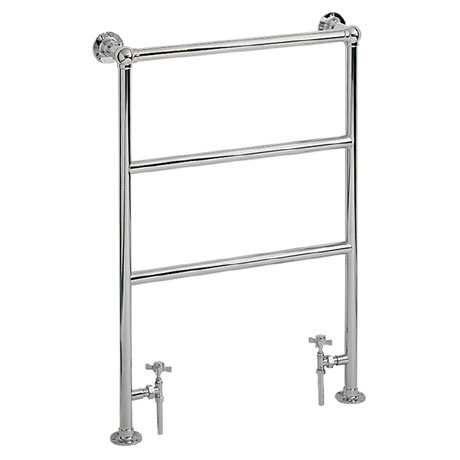 Heritage - Victorian Heated Towel Rail - Chrome - AHC70