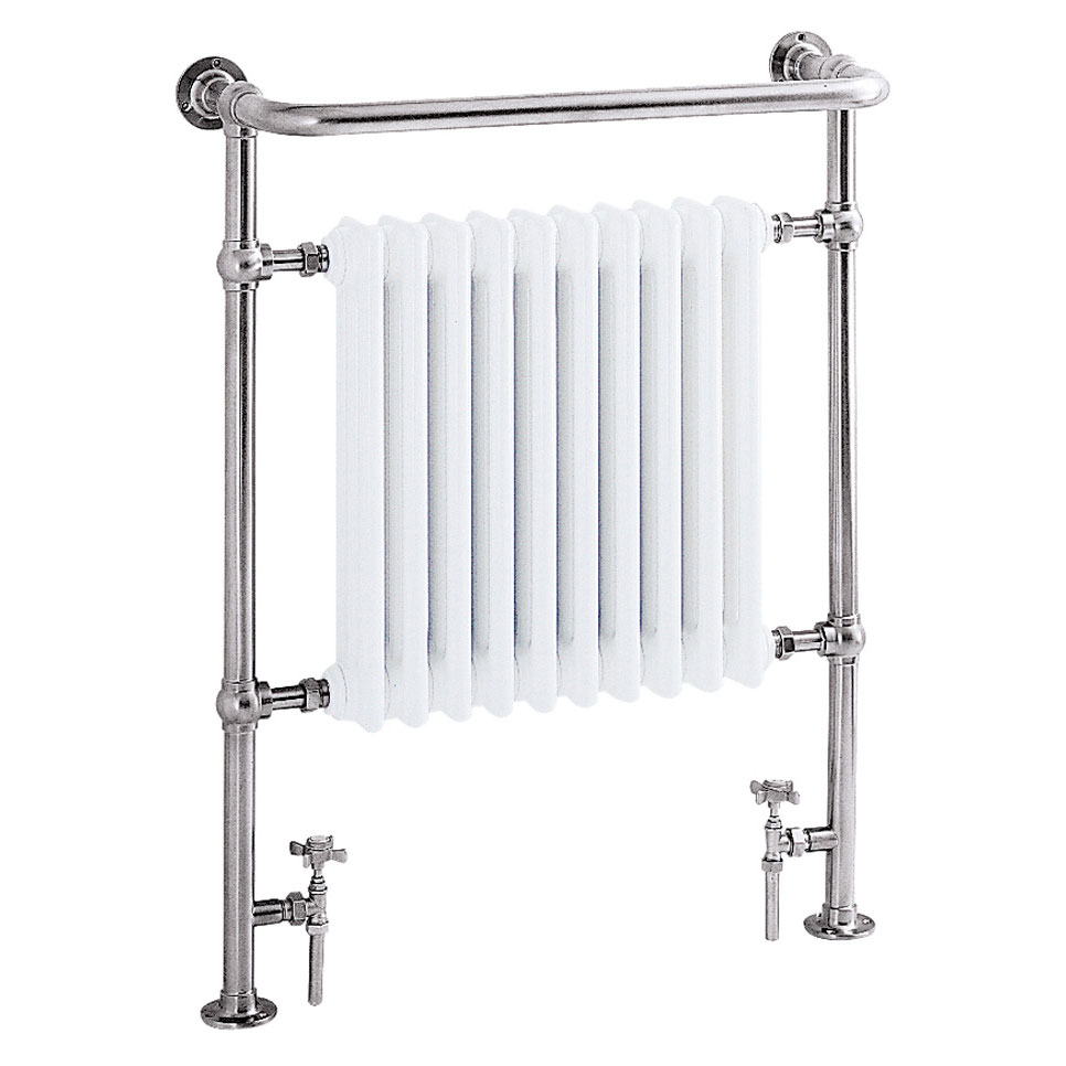 Heritage - Clifton Heated Towel Rail - Chrome - AHC73 Large Image
