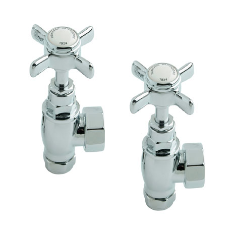 Heritage - Traditional Heated Towel Rail Valves - Chrome - AHC75
