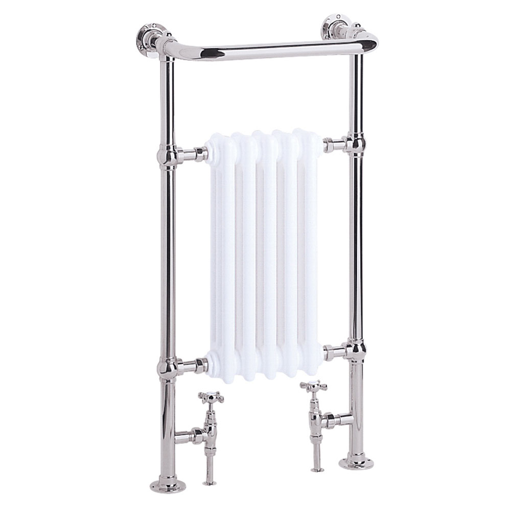 Heritage - Baby Clifton Heated Towel Rail - Chrome - AHC80 Large Image