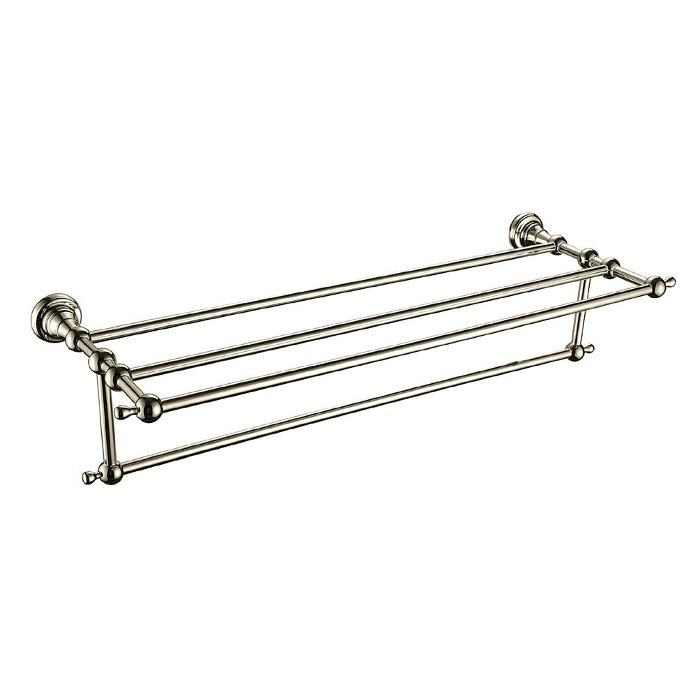 Heritage Holborn Double Bathroom Towel Shelf - Vintage Gold - AHODBTG Large Image