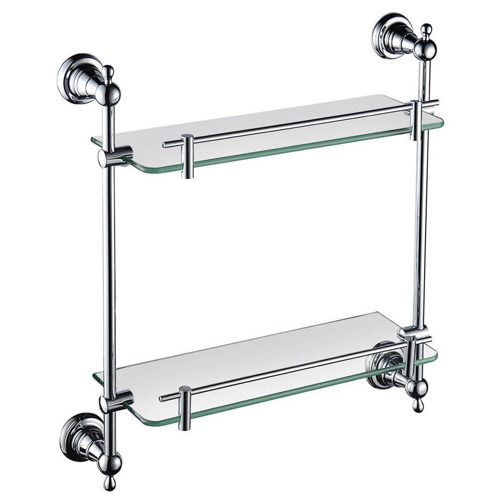 Heritage Holborn Double Glass Shelf - Chrome - AHODGSC Large Image