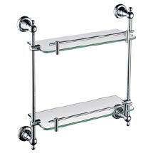Heritage Holborn Double Glass Shelf - Chrome - AHODGSC Medium Image