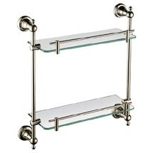 Heritage Holborn Double Glass Shelf - Vintage Gold - AHODGSG Medium Image