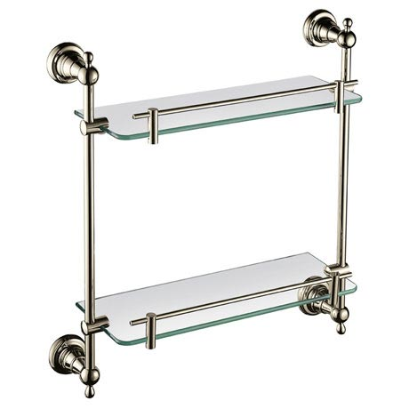 Heritage Holborn Double Glass Shelf - Vintage Gold - AHODGSG