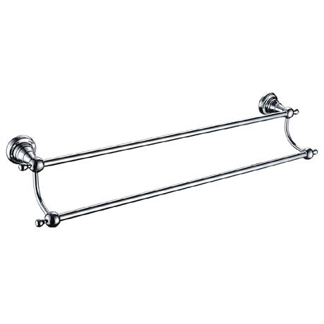 Heritage Holborn Double Towel Rail - Chrome - AHODTRC