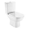 Roca Aire Close Coupled Toilet with Soft-Close Seat profile small image view 1