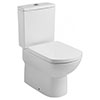 Roca Aire Close Coupled BTW Toilet + Soft Close Seat profile small image view 1
