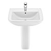 Roca Aire Square 600mm 1TH Basin with Full Pedestal profile small image view 1