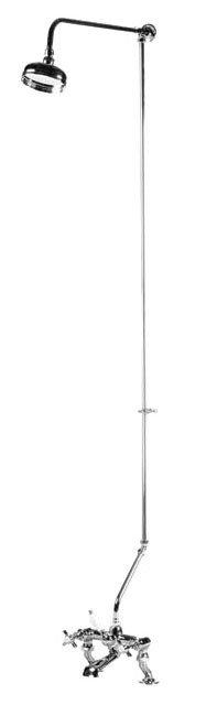 Ultra Rigid Riser Kit for Bath Shower Mixer - Chrome - AK305 Large Image