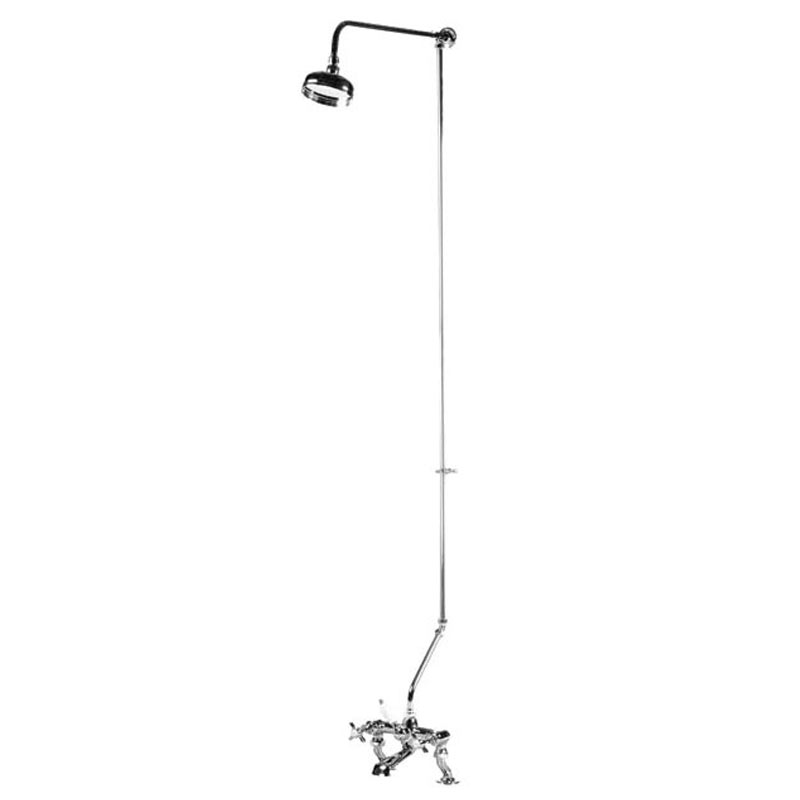 Ultra Rigid Riser Kit for Bath Shower Mixers - Chrome - AK305 profile large image view 2