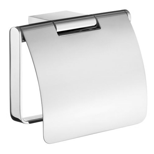 Smedbo Air - Polished Chrome Toilet Roll Holder with Lid - AK3414 Large Image