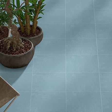 Akara Blue Wall and Floor Tiles - 200 x 200mm