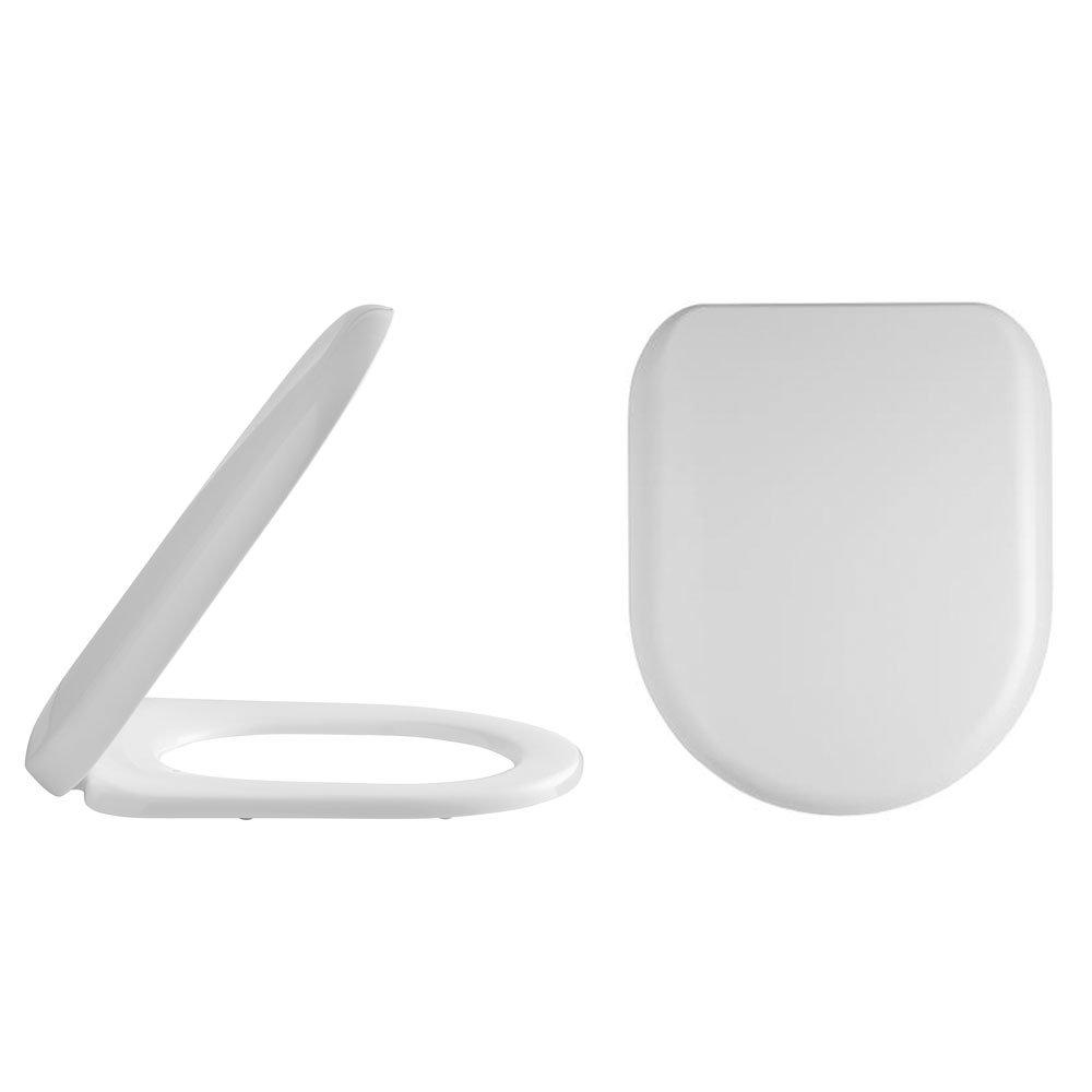Alaska Luxury D-Shaped Soft Close Quick Release Top-Fixing Toilet Seat - AL04