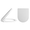 Alaska Luxury D Shaped Toilet Seat Square Edge - AL07 Small Image