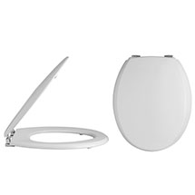 Alaska Traditional Toilet Seat with Chrome Hinges - AL32 Medium Image