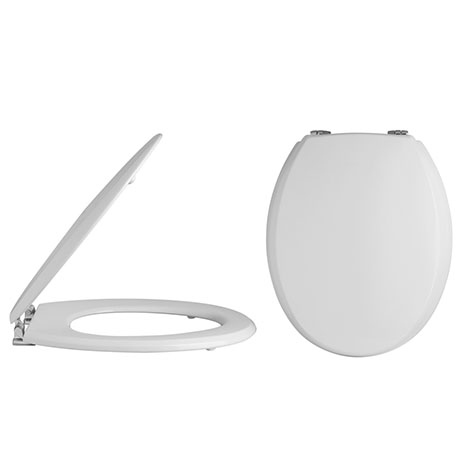 Alaska Traditional Toilet Seat with Chrome Hinges - AL32