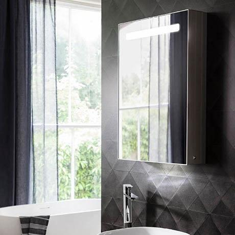 Crosswater Allure 500 x 700mm Illuminated Mirrored Cabinet - AL5070AL
