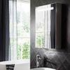 Crosswater Allure 500 x 700mm Illuminated Mirrored Cabinet - AL5070AL profile small image view 1