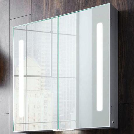 Crosswater Allure 900 x 700mm Illuminated Mirrored Cabinet - AL7070AL